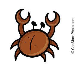 Sea Crab Cartoon Illustration