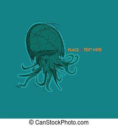 Sea Creature - Illustration of a sea creature