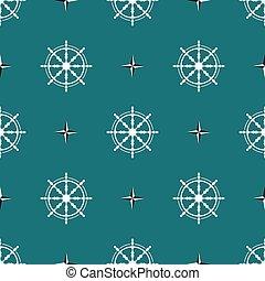 Sea design steering wheel pattern vector eps 10