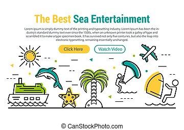 Sea Entertainment - rectangular site header
