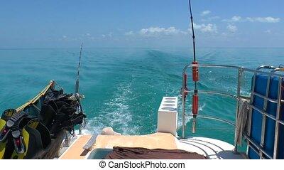 Sea Fishing Rods and Catamaran, Cuba