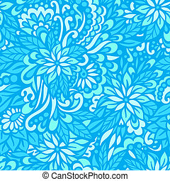 Sea flowers. Seamless decorative pattern.