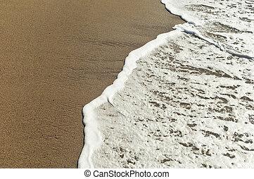 Sea foam - Closeup of beautiful white sea foam and waves