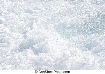 Sea foam - Boat wake foam