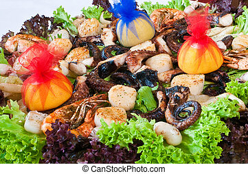 sea-food, blande