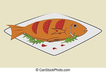sea food design over beige background vector illustration