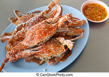 sea food - horse Crab boil for eat
