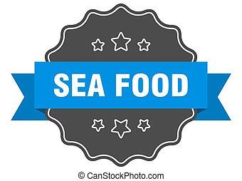 sea food label. sea food isolated seal. sticker. sign
