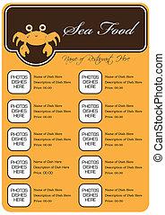 Sea Food Restaurant Menu Full Design Concept