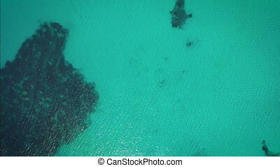 sea from a drone view. bird view in Sardinia Italy