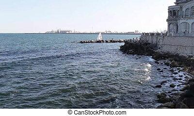 Sea Front Constanta Romania - The Black Sea in front of the...