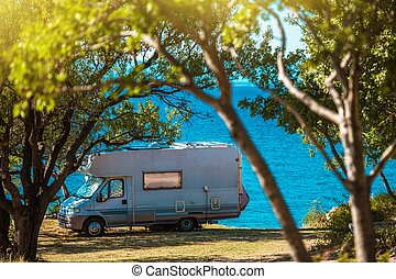 Sea Front RV Camping Spot
