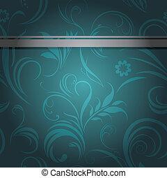 Sea green ornamental background - Dark sea green ornamental...