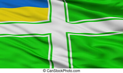 Sea Guard Ensign Of Ukraine Dress Flag Closeup Seamless Loop...