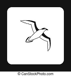 Sea gull icon in simple style