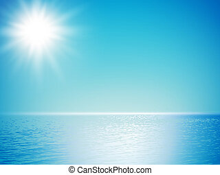 sea horizon with sun shine