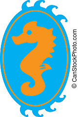 sea Horse - label of a sea horse