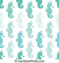 Sea horse vector art background design for fabric and decor....