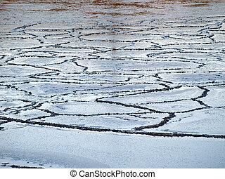 Sea ice edge nature in winter background image