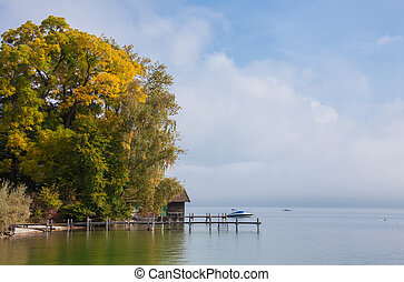 Sea in Autumn - This image shows a sea in autumn