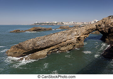 Sea in Biarritz, Aquitaine, France