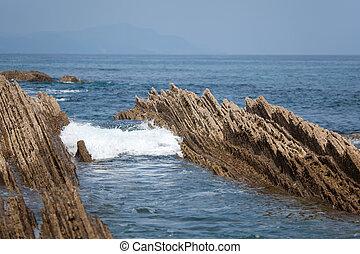 Sea in Zumaia, Gipuzkoa, Spain
