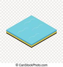 Sea isometric icon