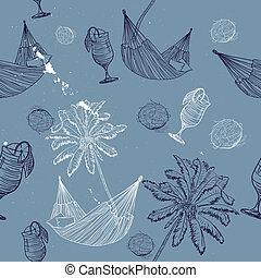 sea journey seamless pattern.