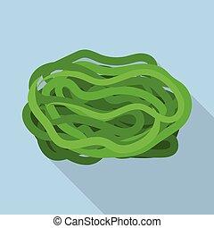 Sea kale icon, flat style