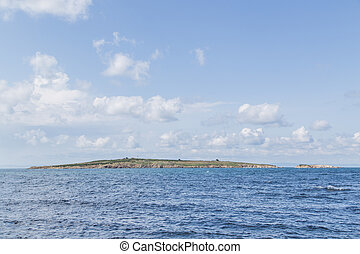 sea land - blue sea island land sky