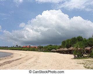 Sea landscape from an ocean coast