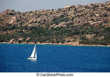 sea landscape in the coasts of Sardinia (a)