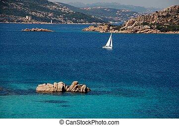 sea landscape in the coasts of Sardinia (b)
