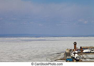 Sea landscape in the winter