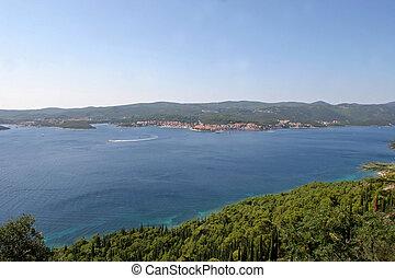 Sea landscape with blue sky