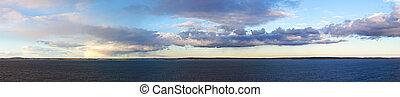 sea landscape with clouds