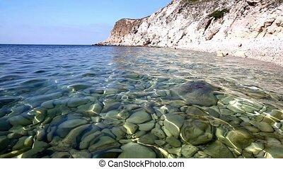Sea landscape with cristal water - Sea bottom thrue cristal...