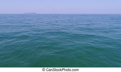 sea landscape with ripple - aerial drone flying sea...