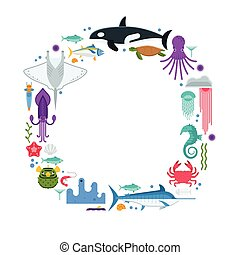 Sea Life Border Frame