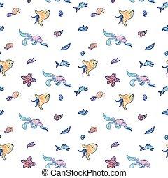 Sea life light pattern