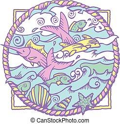 Sea Life Water and Fish