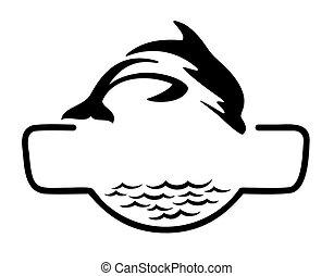 sea Logo with fish.