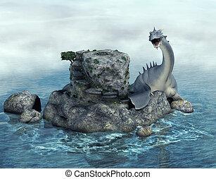 sea monster - 3d render