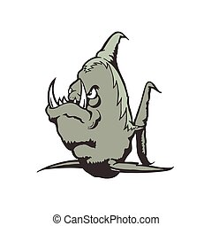 Sea Monster cartoon character