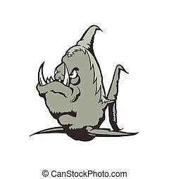 Sea Monster cartoon character