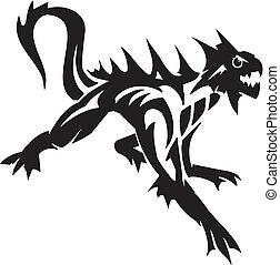 Sea Monster - vector illustration. Vinyl-ready. - Water...