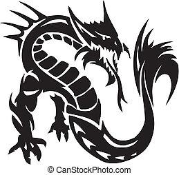 Water Monster - vector illustration. All vinyl-ready.