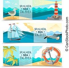 Sea Nautical Horizontal Banners