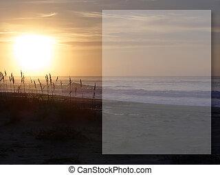 Sea Oats Box - Intense sunrise over the beach with sea oats...