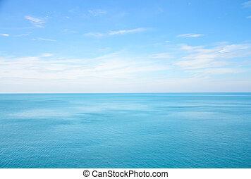 Sea ocean and blue sky